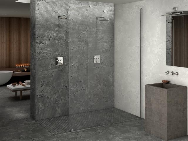 Der findes mange flotte storformatsfliser. Store fliser til badeværelse, væg, spisebord eller gulv